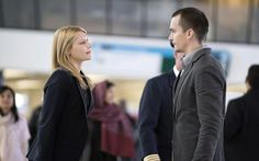 Claire Danes as Carrie Mathison and Rupert Friend as Peter Quinn in Homeland (Season 4, Episode 1).