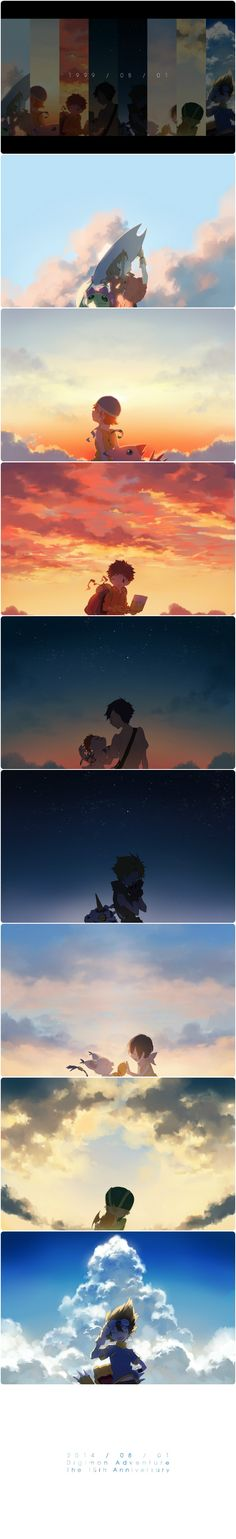 summer sky - digimon adventure