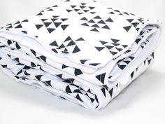 Black Triangles Baby Blanket, Arrows Crib Blanket, Minky Triangles Blanket, Baby Crib Blanket, Organic Baby Blanket, Stacked Triangles by KarolinaDesigns on Etsy https://www.etsy.com/listing/217859542/black-triangles-baby-blanket-arrows-crib