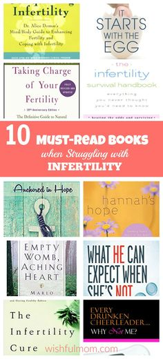 Are you struggling with infertility and needed some inspiration? Grab one or all of these books to help you.