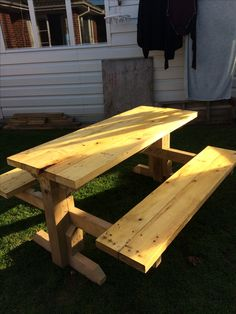Made from Tractor pallets. Made very strong and measures at 1.6mtr long. Can seat 3 adults on each side.