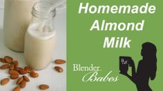Fresh Homemade Almond Milk. @BlenderBabes www.blenderbabes.com #vitamix #blendtec #recipe #homemade #almond #milk