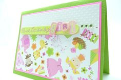 Baby Girl Congratulation Card Baby Shower Card by periwinklecards, $4.00