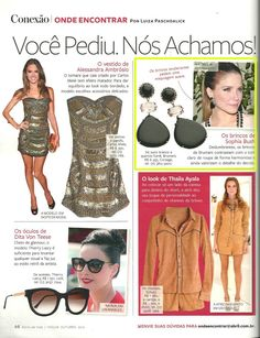 Estilo Magazine - Nude casual collection earrings with diamonds and quartz.