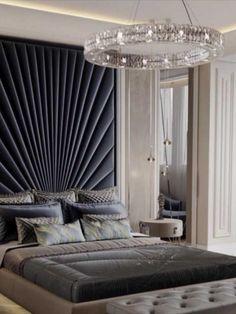 Grey Bedroom Decor, Bedroom Decor For Small Rooms, Master Bedroom Interior, Bedroom Decor For Couples, Modern Master Bedroom, Home Interior, Bedroom Ideas, Bed Headboard Design, Bedroom Bed Design