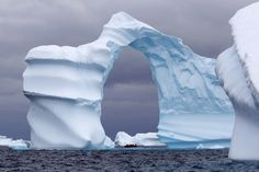 Nature at its best - ice tower! #auroraexpeditions #jewelsofthearctic