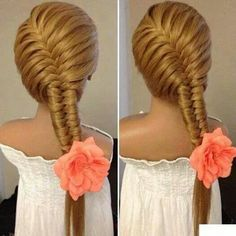 Beautiful Fishtail braid.