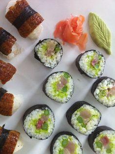 Wasabi Roll and Unagi