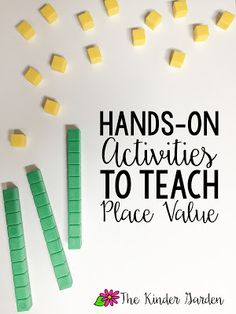 The Kinder Garden: Hands-on Place Value Activities!