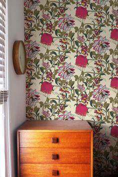 Mauve Lily Wallpaper - Monument Interiors