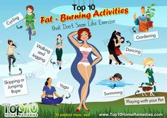 Top 10 Fat-Burning Activities that Don't Seem Like Exercise Top 10 Home Remedies