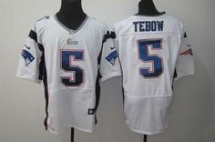2936cecad Nike Patriots  5 Tim Tebow White Men s Embroidered NFL Elite Jersey   Emillia Kelly New