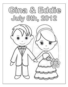 free printable coloring pictures wedding | Printable ...
