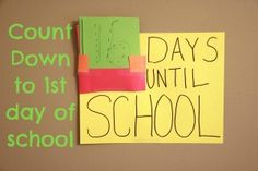 School count down with Astrobrights Paper #crafts #backtoschool