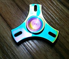 Shiny Smooth Rainbow Colors For This EDC Fidget Spinner Looks Pretty Awesome Check Out