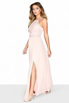 cfe9f90fe3 Little Mistress Salmon Pink Maxi Dress - Little Mistress from Little  Mistress UK
