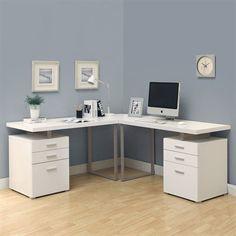 Monarch Specialties Hollow Core L-Shaped Desk