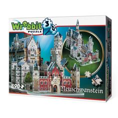 Neuschwanstein Castle Jigsaw Puzzle, This Neuschwanstein Castle puzzle has 890 pieces. The finished dimensions of the Neuschwanstein Castle puzzle are cm) x cm) x cm). Ages 12 and up. Mousse, 3d Puzzel, Game Of Thrones, 3d Jigsaw Puzzles, Sleeping Beauty Castle, Neuschwanstein Castle, King Arthur, Romanesque, Puzzle Pieces
