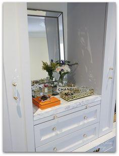 DIY Custom Dressing Room | Marble vanity top | Classy Glam Living