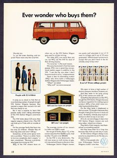 """BBC Boracay: """" We did not fit into this statistics but we love our VW Vans never the less..."""" ('A VW Station Wagon always looks exactly as preposterous as the day you drove it home.' - 1969 VW Ad)"""