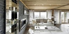Elegant Chalet Design in French Alps that Can Pamper Your Senses: Intricate Interior Design Idea Applied In Chalet Eden Design Finished With. Chalet Design, Mountain Home Interiors, Chalets For Sale, Wood House Design, Location Chalet, Eden Design, Ski Chalet, Bedroom With Ensuite, House In The Woods