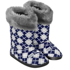 Women's Seattle Seahawks Argyle Fur Boot