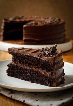 Pastel de chocolate esponjoso, fácil y rápido de preparar | Ganache de chocolate negro | Tarta de Matilda Brownies, Pie, Cooking, Healthy, Desserts, Cakes, Cook, Molde, Frozen Custard