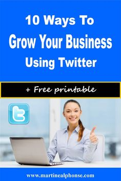 10 Ways to Grow Your Blog Using Twitter. Blogging tips to help your blog and business soar.
