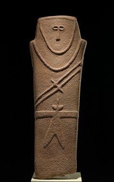 Anthropomorphic stele; near al-Ula, Mada'in Saleh, Tayma, Saudi Arabia, 4th millennium BCE. National Museum, Riyadh.