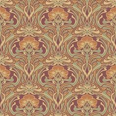 Crown CWV ft Burnt Sienna Paper Floral Unpasted Paste the Paper Wallpaper at Lowe's. Embellished with subtle metallics, this nouveau floral wallpaper will add a brilliant organic flare to your walls. Inspired by the natural forms and the Paper Wallpaper, Wallpaper Samples, Wallpaper Roll, Wall Wallpaper, Silver Leaf Wallpaper, Geometric Wallpaper, Coral Wallpaper, Brown Wallpaper, Luxury Wallpaper