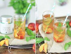 Basilikum Eistee Rezept - jetzt im Magazin! Erfrischend und fruchtig! // Basil Ice Tea