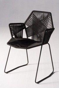 Moroso Möbel, Schaukel Stühle, Patricia Urquiola, Der Stuhl, Outdoor Möbel,  Die Sammlung, Sessel, Stahlrohr, Webtechniken