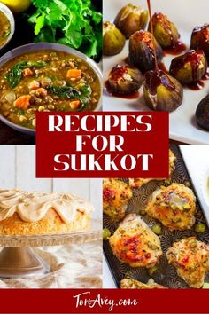 Recipes for Sukkot - A roundup of delicious seasonal options to celebrate the bounty of the harvest and the holiday of Sukkot. #fallfoods #harvestfoods #sukkot #jewishcooking #TorisKitchen Sukkot Recipes, Jewish Recipes, Appetizer Recipes, Holiday Recipes, Recipes Dinner, Holiday Meals, Kosher Recipes, Cooking Recipes, Kosher Meals