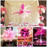 Discount item ostrich feather for wedding table centerpiece,feather centerpiece,pink ostrich feathers,wedding table decoration AAA Feather Centerpieces, Wedding Table Centerpieces, Diy Wedding Decorations, Table Decorations, Decoration Party, Wedding Ideas, Party Font, Tissue Flowers, Types Of Craft