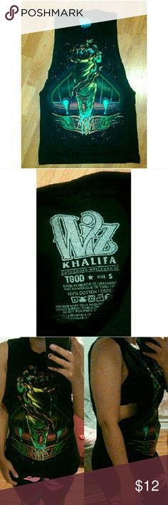 WIZ KHALIFA- Muscle T-shirt Wiz Khalifa muscle T-shirt Brand new never worn, no tags Size small 100% cotton wiz Khalifa Tops Muscle Tees