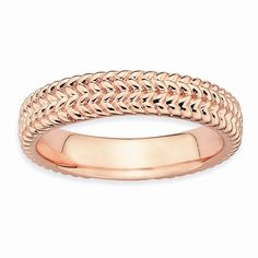 Sterling Silver Pink-Plated Ring