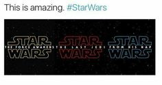 The Force Awakens, The Last Jedi, ........... From Hisi Nap