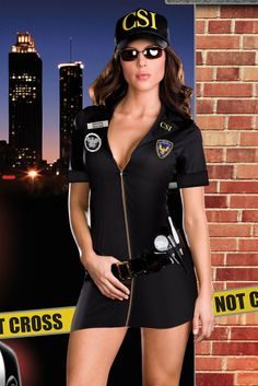 Charming CSI Policewoman Costume