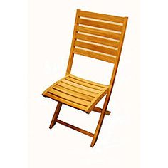 St. Bart Teak Folding Patio Chair (Set of 2) - Overstock™ Shopping - Big Discounts on Dining Chairs