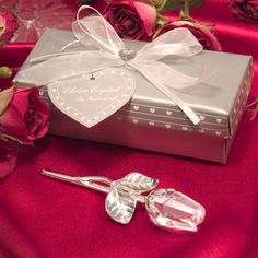 CHOICE CRYSTAL – LONG STEM ROSE KEEPSAKE