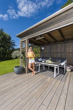 MøreRoyal® grå hagestue, settes sammen med ferdige element på 1 dag! Container Restaurant, Outdoor Decor, Diy, Home Decor, Terrace, Bricolage, Interior Design, Handyman Projects, Home Interior Design