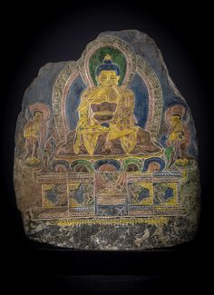 A low relief stone carving Tibet, 19th Century (?)