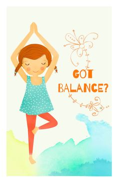 Kids Yoga Poster Got Balance by YogaOmspiration on Etsy