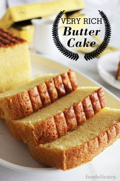 beaten 455 g butter (or use 350 g for a less rich version)You can find Butter cake recipe and more on our website.beaten 455 g butter (or use 350 g for a less rich version) Cupcakes, Cupcake Cakes, Bundt Cakes, Layer Cakes, Rich Butter Cake Recipe, Butter Cakes, Baking Recipes, Dessert Recipes, Bread Recipes