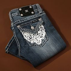 Miss Me Lacy Doily Boot Cut Jeans. i really want a pair of miss me jeans!!