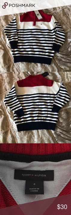 New Tommy Hilfiger kids sweater sz 4 Never worn Tommy Hilfiger sweater sz 4 Tommy Hilfiger Shirts & Tops Sweaters