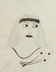 Lee Godie Untitled 1908-1994 Outsider Art She is often considered Chicago's most collected artist.