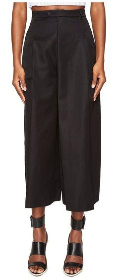 Jeremy Scott Summer Wide-Legged Trousers (Black) Women's Casual Pants - Jeremy Scott, Summer Wide-Legged Trousers, 171JSJ030909220555-001, Apparel Bottom Casual Pants, Casual Pants, Bottom, Apparel, Clothes Clothing, Gift - Outfit Ideas And Street Style 2017