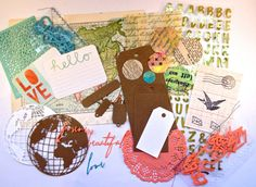 *** Bible Journaling / Scrapbooking Kit WORLDTRAVELER ***  This Kit is handpicked and handmade by me, Rebecca Sawatsky.  You can use this beautiful kit for your bible journaling, scrapbooking or to make cards...or any other beautiful things.  The WORLDTRAVELER kit contains:  1 golden alpha sticker sheet 1 vintage map paper sheet 2 journaling cards hello and love 2 die cuts globe , kraftpaper & white card stock 1 large kraft paper tag 1 medium kraft paper tag 1 small tag , white cardstock 1…