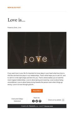 New Blog Post That's Love, News Blog, Relationship, Life, Relationships